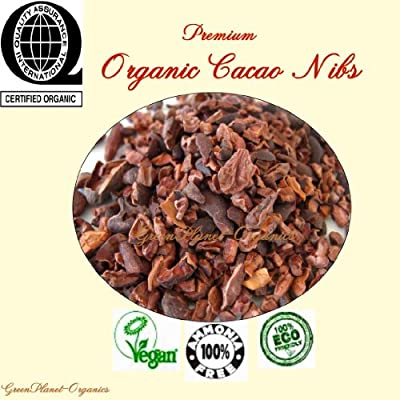 Raw Superfood: Certified Organic Raw Peruvian Cacao Nibs 2 LBS Chemical Free & Vegan (Add this to your Cereal, Greek Yogurt, Ground Coffee & Trail Mix) from Greenplanet-Organics