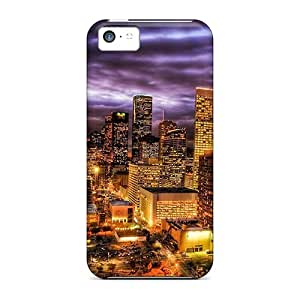 EDK2889xLmA Phone Cases With Fashionable Look For Iphone 5c - A Million Lights In The City Hdr