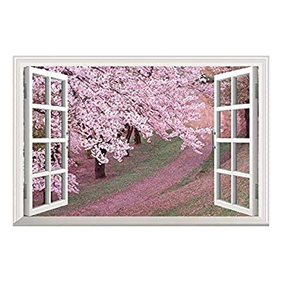 Delightful Craft, Premium Creation, Wallpaper Large Wall Mural Series ( Pink Cherry Blossom Spring)