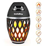 InstaBox Firestarter FS18 LED Flame Bluetooth Speaker, Touch LED Night Light Outdoor/Indoor Portable Stereo Wireless Bluetooth Speaker with 6 Watt HD Audio, IP65 Waterproof, 96 LEDs Flickers Light