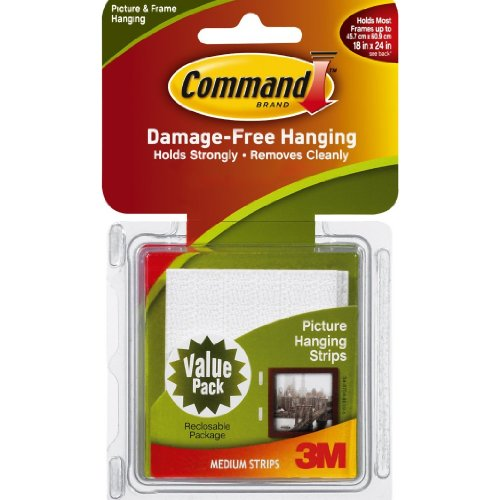 Command Medium Picture-Hanging Strips 12-Picture