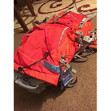 Mountaintop Outdoor Waterproof Hiking mountaineering Internal Frame Backpack 5805 Red