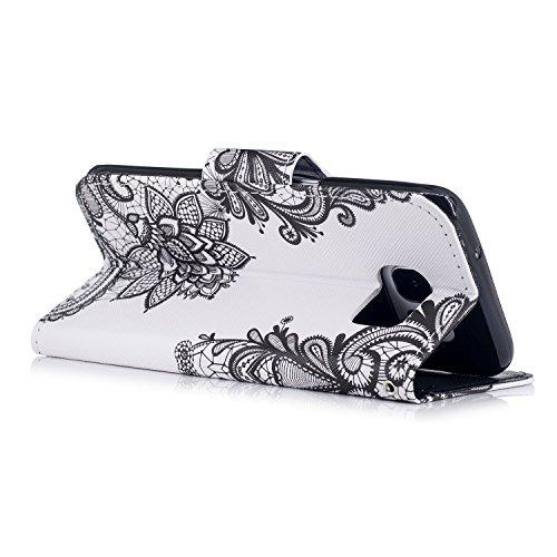 Funda para Samsung Galaxy S7 Edge , IJIA Lindo Gatos TPU + PU Cuero Ranuras para Tarjetas de Crédito Flip Caja [Estilo Libro,Soporte Plegable ] Cover Tapa Caso Parachoques Carcasa Cubierta Shell para  WM108