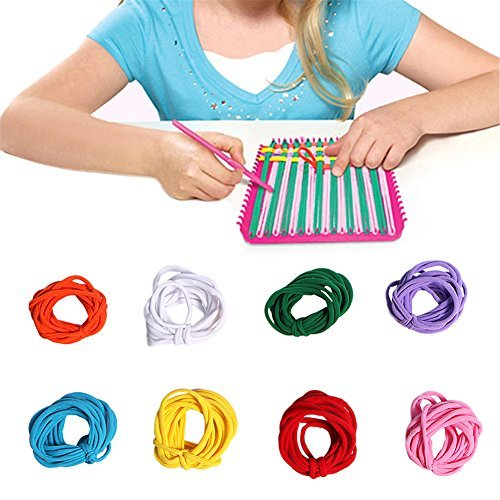 Luerme Weaving Loom Refill Loops Kids Toys Crafts Stretchy Braided Crafts Loops Loom Kit Refill Loops Multi-Color Pack Loopy Projects ()