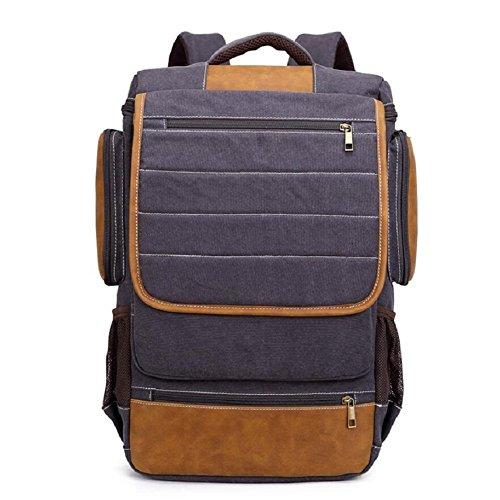 LJ&L Estilo europeo mochila de estilo simple, 18-30L mochila de lona de la capacidad, al aire libre mochila multiusos de viaje de la juventud, hombres y mujeres mochila de moda universal,B,18-30L B