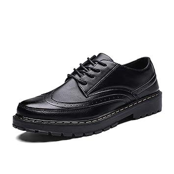 Shufang-shoes, Zapatos Mocasines para Hombre 2018 Cómodo Suela Exterior de los Hombres Limpie