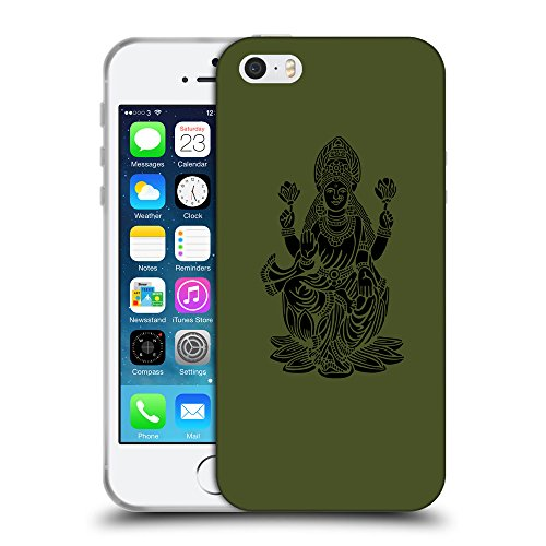 GoGoMobile Coque de Protection TPU Silicone Case pour // Q08110605 Hindou 2 armée verte // Apple iPhone 5 5S 5G SE