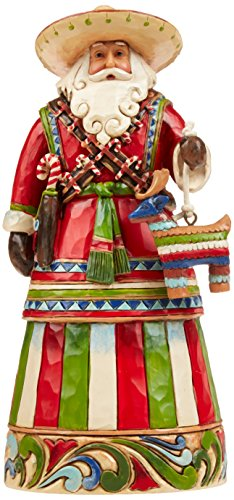 Enesco Jim Shore Heartwood Creek Mexican Santa Stone Resin Figurine, 7.25""