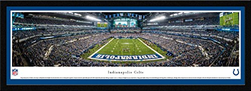 (Indianapolis Colts - End Zone- Single Mat, Select Framed NFL Print by Blakeway Panoramas)