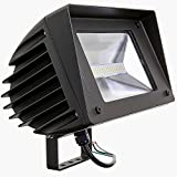 50W LED Flood Light – Swivel Mount Included, 5000K (Daylight) 6766 Lumens, 150/200 Watt HPS/HID Replacement, Outdoor Security and Area Lighting, UL Listed