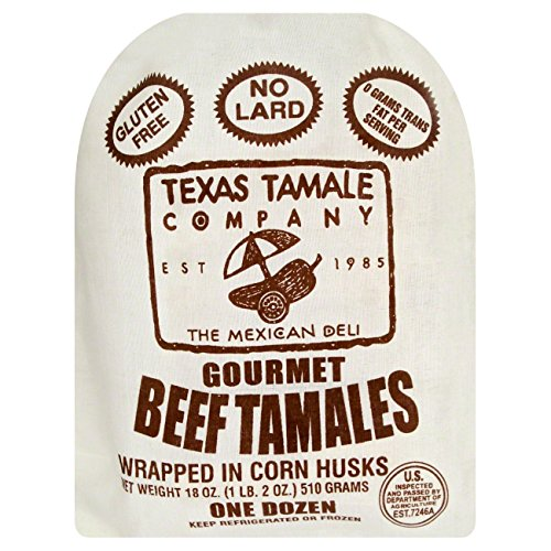 - Texas Tamale Company Gourmet Beef Tamales, 18 Ounce (Pack of 8)