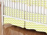 SheetWorld - Crib Skirt (28 x 52) - Yellow Chevron Zigzag - Made In USA