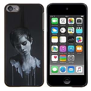 TECHCASE---Cubierta de la caja de protección para la piel dura ** Apple iPod Touch 6 6th Touch6 ** --Emma Wats0N Pintura