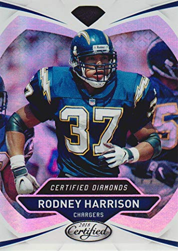2018 Certified Football Diamonds #23 Rodney Harrison San Diego Chargers ()