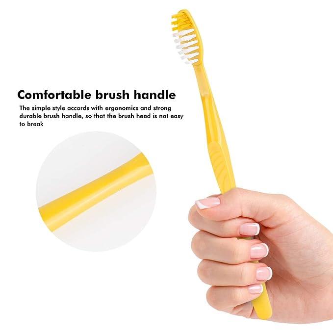 Cepillo de dientes desechable prepegado envuelto individualmente para viajes (50 piezas): Amazon.es: Salud y cuidado personal