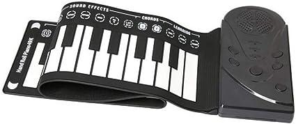 YIHANGG Piano Laminado A Mano 49 Teclas Plegable ...