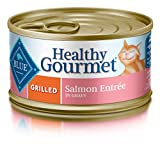 BLUE Healthy Gourmet Adult Grilled Salmon Wet Cat Food 3-oz (Pack of 24)