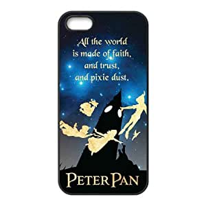 High Quality Customizable Durable Rubber Material Peter Pan Quotes Never Grow Up iPhone 5 5S Back Cover Case
