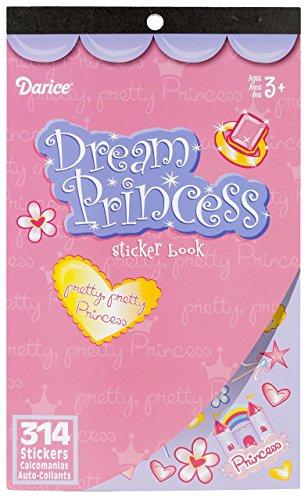 Darice Sticker Book, 9.5 by 6-Inch, Dream Princess, 314-Count Darice Sticker Book
