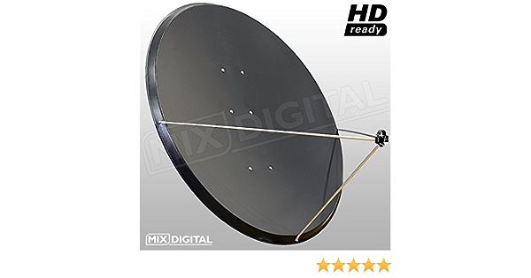 1,4 m Mix Digital antena parabólica de acero 1,4 mx 1,3 my AZ-EL soporte (1400 mm x 1270 mm de diámetro)