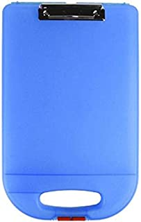product image for Dexas Clipcase 2 Storage Clipboard with Rounded Handle, Blue