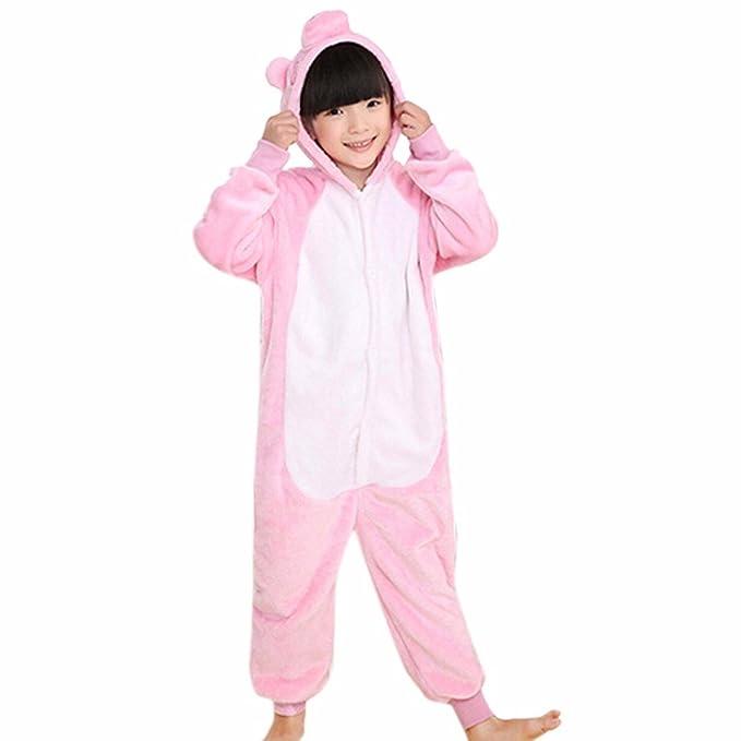 Cartone capretti animato pigiama flanella ragazze rosa dei