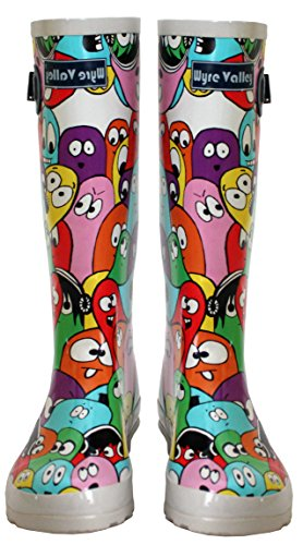 Snow Blob Rain Girls 3 Ladies Wellies Rubber New Festival Mud Vally 8 Womens Boots Sizes UK Waterproof Wellington XXR0TxAq