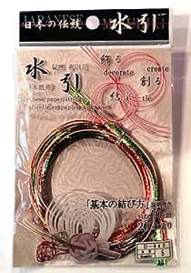 Japanese Mizuhiki Paper Strings Metallic Assorted Colors Red/green/white