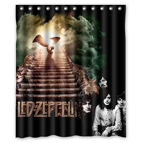 Amazon Mirryderr Custom Rock Band Led Zeppelin Waterproof Polyester Fabric Bathroom Shower Curtain Standard Size Home Kitchen