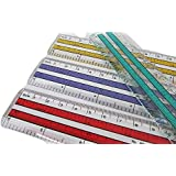 6 inch Rulers | 15 cm Rulers | Transparent Plastic Ruler | Pack of 12 of Premium Quality Rulers | Yellow, Green, Red and…