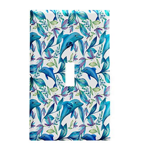 Tropical Dolphins Switchplate - Switch Plate Cover (Dolphin Switchplate)