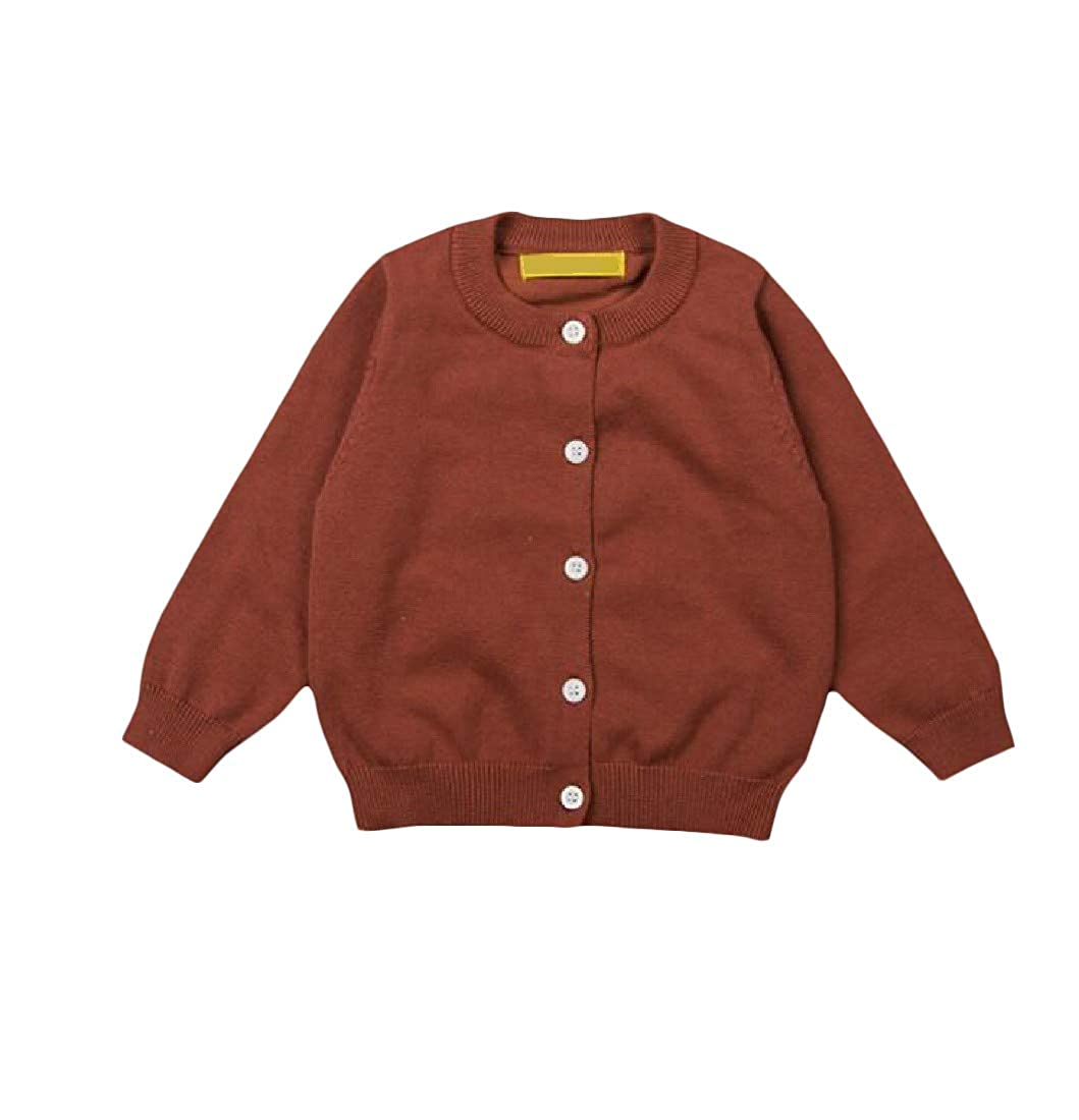 Cromoncent Girl Coat Cotton Slim Knitted Casual Jumper Cardigans
