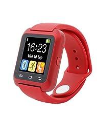 TOOPOOT For Samsung LG iPhone U80 Bluetooth 4.0 Smart Wrist Watch (red)