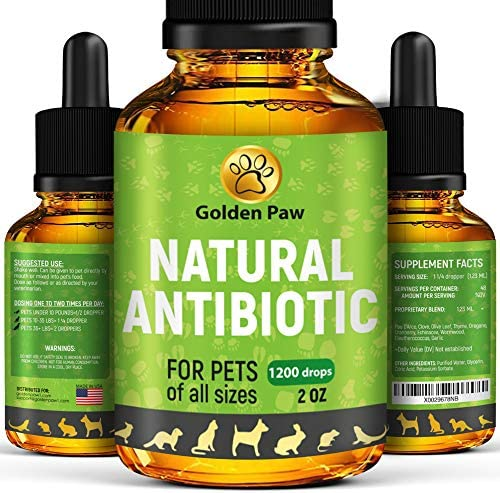Natural Antibiot for Dogs – Immune System Booster for Dogs – Kennel Cough Remedy for Pets – UTI Treatment – Allergy Immune Supplement for Pets – Antibiot cs Alternative for Cats