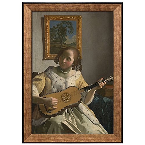 The Guitar Player by Johannes Vermeer Framed Art