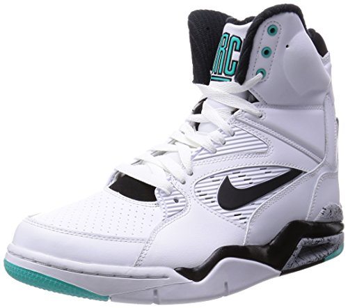 NIKE Mens AIR COMMAND FORCE WHITE/WOLF GREY/HYPER JADE/BLACK 684715-102 9