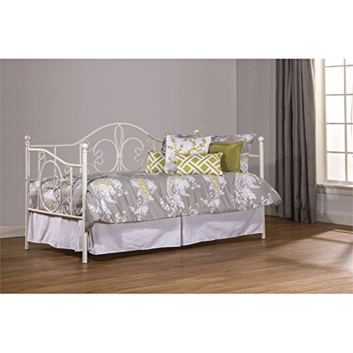 """Hillsdale Furniture Hillsdale 1687DBLHTR Ruby Suspension Deck and Roll Unit, Textured White Daybed with Trundle 44.25"""" H x 78.5"""" L x 39"""" D"""
