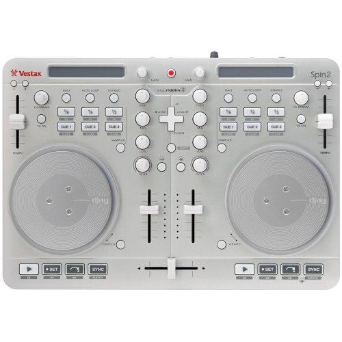 [해외] Vestax DJ콘트롤러 Spin2 실버 iPhone/iPad/iPod touch대응 algoriddim djay/vjay대응
