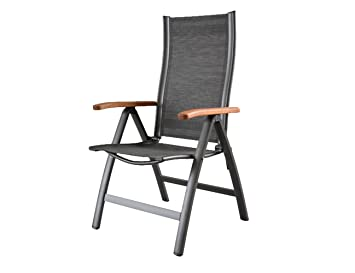Sun Garden Sun Star Premium 10151814 Fold Up Chair Anthracite Aluminium  Frame Twichell Textilene Fabric