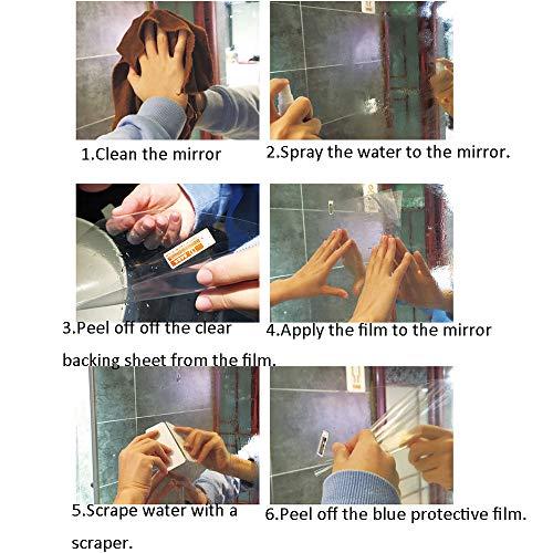 Sunice Self Adhesive Anti Fog Film For Showr Mirror Anti Fogging Films Fog Clear For Bathroom Mirror Shower Mirror Transparent Mirror Protective Film Sticker 47 X12 Roll In Dubai Uae Whizz Wall Mounted Mirrors