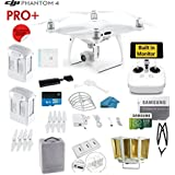 DJI Phantom 4 PRO Plus (Pro+) Quadcopter Drone with 1-inch 20MP 4K Camera KIT with Built In Monitor + 2 DJI Batteries + 32gb Micro SD Card + Reader 3.0 + Guards + Range Extender + Charging Hub