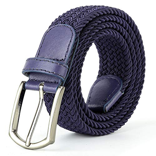 Braided Canvas Woven Elastic Stretch Belts for Men/Women/Junior with Multicolored ()