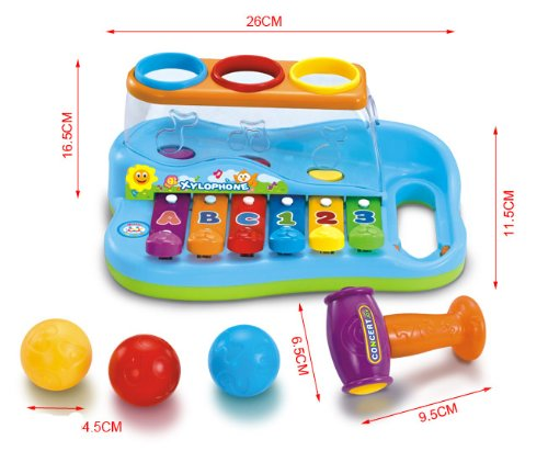 Liberty Imports Rainbow Xylophone Piano Pounding Bench for Kids with Balls and Hammer by Liberty Imports (Image #5)