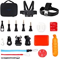 EKEN Action Camera Accessories Kit Outdoor Water Sports Accessories Kit Case for EKEN H9R H9s V8s 4k Waterproof Camera Akaso EK7000 GoPro Hero 5 SJ4000 Campark DBpower Apeman Accessories Set