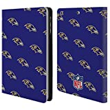 Official NFL Patterns 2017/18 Baltimore Ravens Leather Book Wallet Case Cover for iPad Mini 1 / Mini 2 / Mini 3