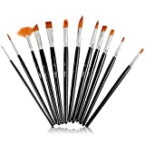 ARTacts -Professional Artist Paint Brush Set for Watercolor, Acrylics, Oil & Face Painting - A Set of 12 Premium Quality Brushes Also Great for Kids and Adults