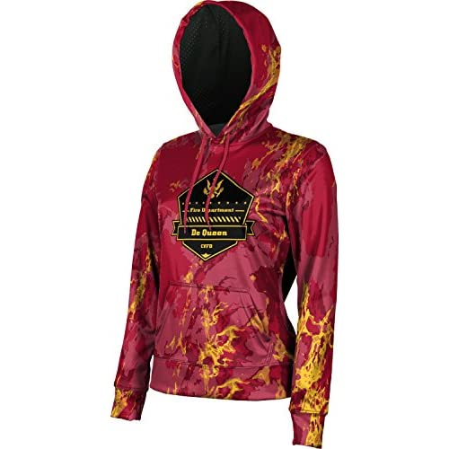 ProSphere Girls' Cossatot Volunteer Fire Department Marble Hoodie Sweatshirt (Apparel)