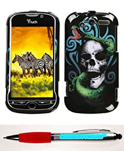 Accessory Factory(TM) Bundle (Phone Case, 2in1 Stylus Point Pen) HTC myTouch 4G Tribal Snake Phone Protector Cover