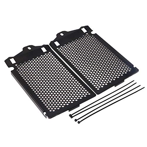 (2Pcs Black Stainless Radiator Cooler Grills Guard Cover for BMW R1200GS GSA ADV LC WC 2013-2017)