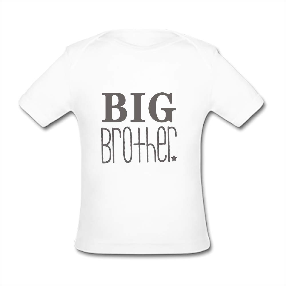 UlanLi Infant Tee Big Brother Baby Organic Short Sleeve T-Shirt White